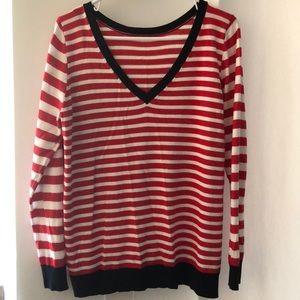 Striped VNeck Sweater